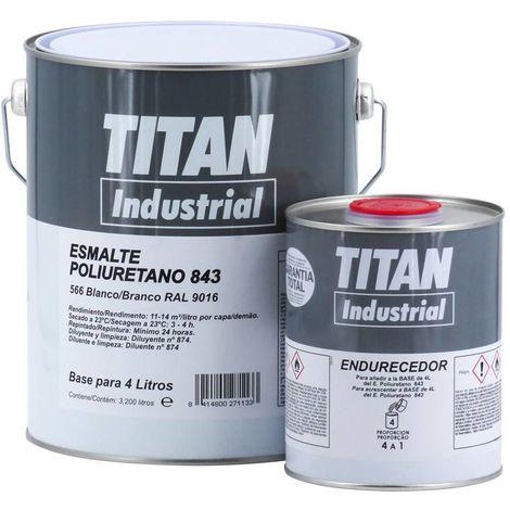 Esmalte Poliuretano-Acrílico Titan 843 Blanco 4L