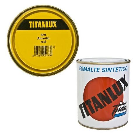 Esmalte Sint Br Amarillo Real - TITANLUX - 529 - 125 ML