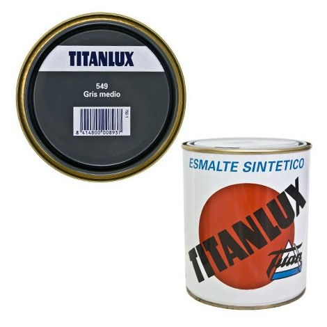 Esmalte Sint Br Gris Medio - TITANLUX - 549 - 4 L