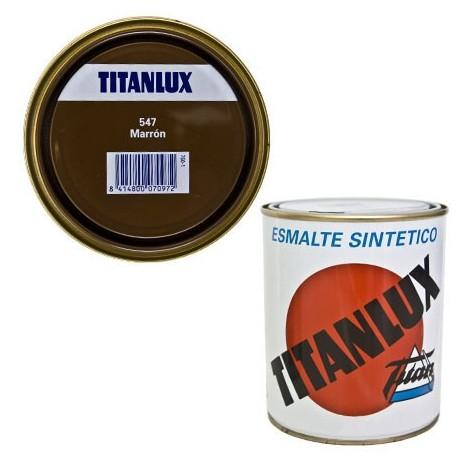 Esmalte Sint Br Marron - TITANLUX - 547 - 4 L