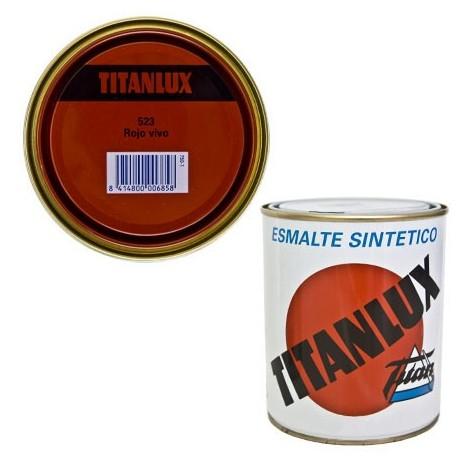 Esmalte Sint Br Rojo Vivo - TITANLUX - 523 - 4 L