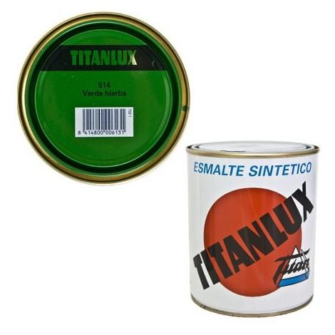Esmalte Sint Br Verde Hierba - TITANLUX - 514 - 125 ML