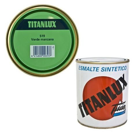 Esmalte Sint Br Verde Manzan - TITANLUX - 519 - 125 ML