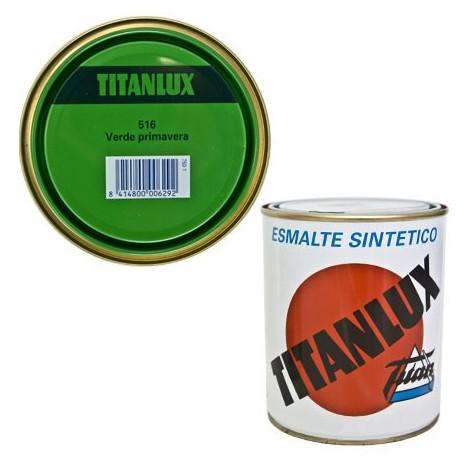 Esmalte Sint Br Verde Primaver - TITANLUX - 516 - 125 ML