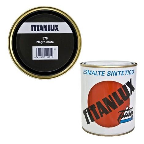 Esmalte Sint Mate Negro - TITANLUX - 576 - 125 ML