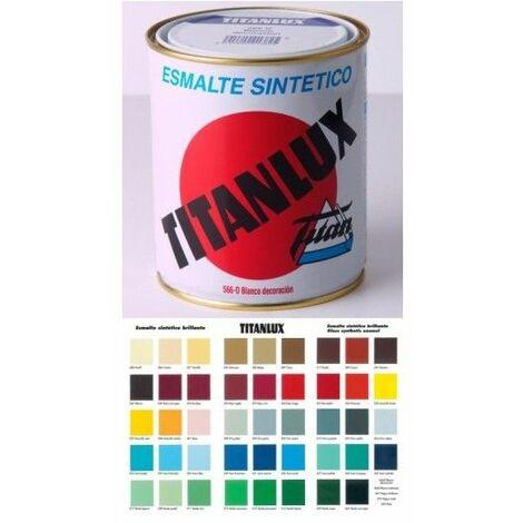 Esmalte Sintetico Brillante 1 Lt Negro Interior/Exterior Titan Titanlux