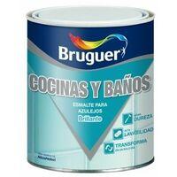 Esmalte Sintetico Brillante 750 Ml Blanco /Harina Azulejos Bruguer