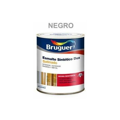 Esmalte Sintetico Satinado 250 Ml Negro Interior/Exterior Bruguer Dux