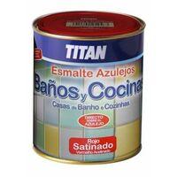Esmalte Sintetico Satinado 750 Ml Blanco Azulejos Cocina/Baño Titan