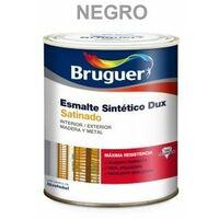 Esmalte Sintetico Satinado 750 Ml Negro Interior/Exterior Bruguer Dux