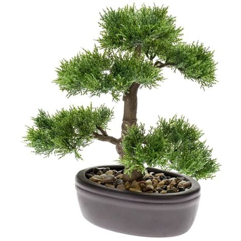 Esmeralda Bonsai cedro artificial verde 32 cm 420001