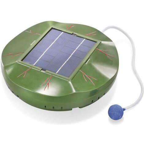 """Esotec Aérateur de bassin solaire """"Floating Air"""" avec module solaire de 1,8 W - pierre poreuse pour bulles - 120 L/h"""