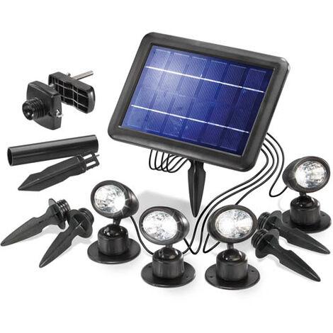 Esotec Ensemble de 4 Spots solaires pour le jardin.