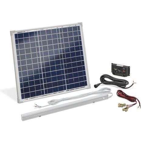 Esotec Kit d'éclairage intérieur à énergie solaire 30 W avec barre LED 8 W
