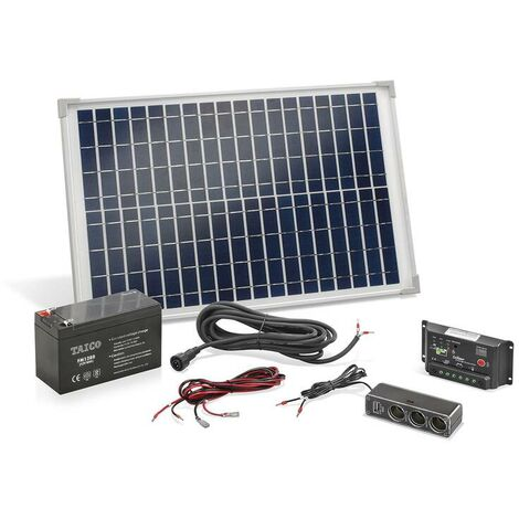 Esotec Kit panneau solaire autonome 20 W avec batterie et multiprise