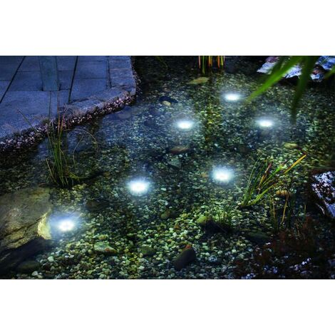 Esotec Set de 3 spots à énergie solaire pour bassin