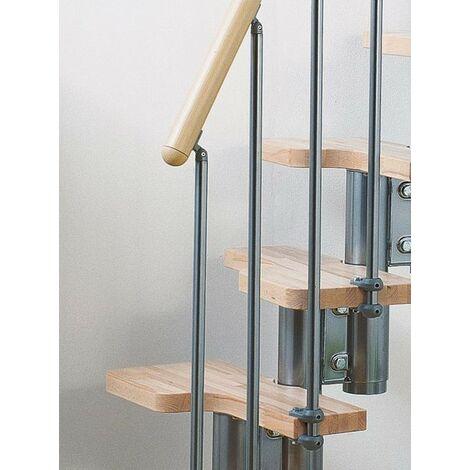 Espace scène multi-usages barres pixima garde-corps - escaliers en acier chromé hêtre clair