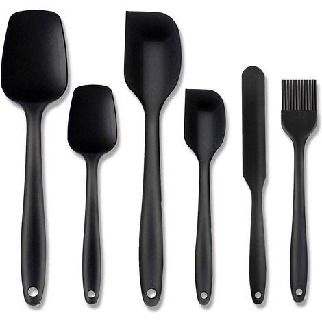 Espátulas de Silicona Set 6 piezas Utensilios Cocina Silicona 500°F Resistente al Calor, Protección del Medio Ambiente, No Tóxico, Antiadherente, para Hornear Cocinar - Colores diferentes