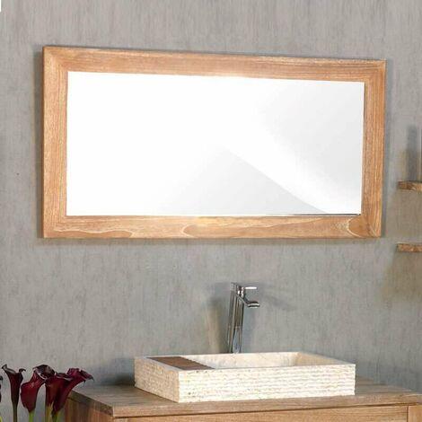 Espejo 120 cm en medera natural blanqueada - Casance