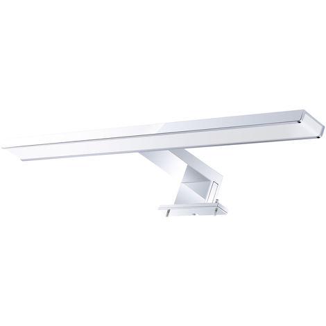 Espejo AC110-240V LED 8W luz delantera cromada de aluminio a prueba de agua Cuarto de bano moderno de la lempara LED Espejo Gabinete de pared simple lempara, 40CM