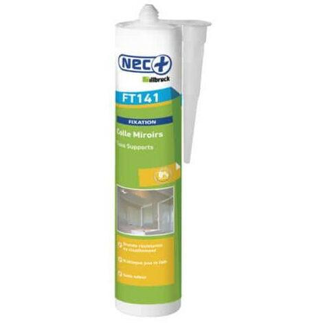 Espejo adhesivo masilla NEC FT 141 + 310 ml de pegamento híbrido - Blanc