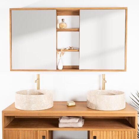 Espejo armario de cuarto de baño 130 cm - 3133