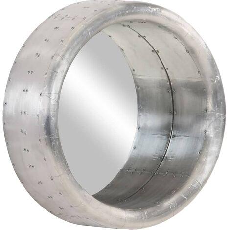 Espejo aviador de metal 48 cm - Plateado
