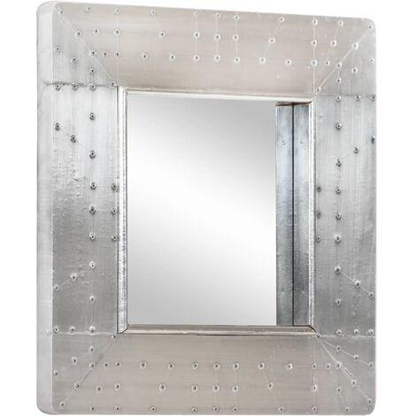 Espejo aviador de metal 50x50 cm - Plateado