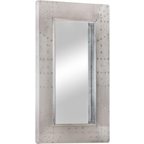 Espejo aviador de metal 80x50 cm - Plateado