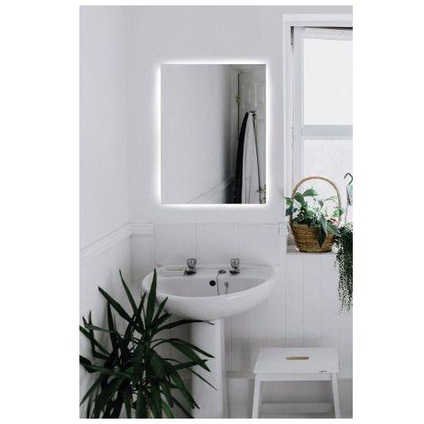 Espejo baño luz led retroiluminado Bidens 80 x 80 cm