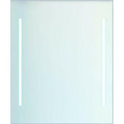 Espejo c/luz 2 tiras LED h/v para baño