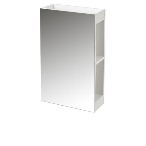 """main image of """"Espejo con armario blanco de cristal y MDF contemporáneo, de 34x14x55 cm"""""""