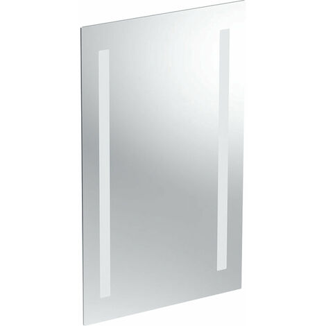 Espejo con luz opcional Geberit, iluminación por ambos lados, anchura 40cm, 500580001 - 500.580.00.1