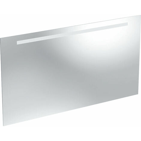 Espejo con luz opcional Geberit, parte superior iluminada, anchura 120cm, 500585001 - 500.585.00.1