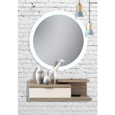 Espejo con luz retroiluminado redondo Dian 60º cm