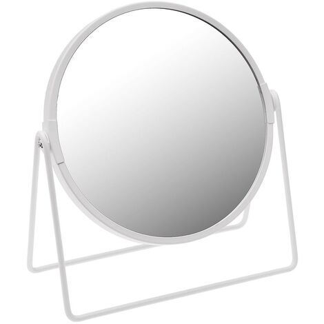 Espejo con pie 1x/5x blanco Rogal