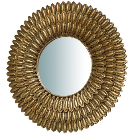 Espejo con soporte, acabado en oro envejecido (cm: 21 x 3 x 21)