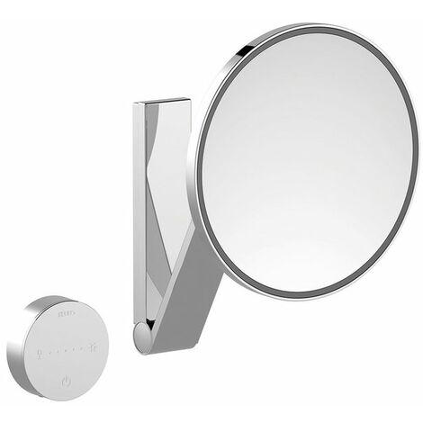 Espejo cosmético Keuco iLook_move, 17612, iluminado, color de luz ajustable en 5 etapas, con 212 mm, cromado - 17612019002