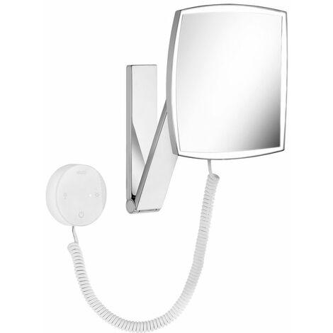 Espejo cosmético Keuco iLook_move, 17613, iluminado, color de luz ajustable en 5 etapas, superficie del espejo: 200x200 mm, cromado - 17613019000