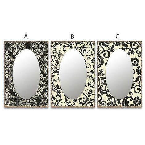 Espejo cristal oval cenefa B