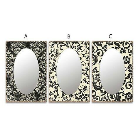 Espejo cristal oval cenefa C