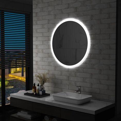 Espejo de baño con LED 80 cm - Plateado