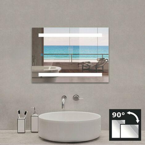 Espejo de Baño con Luz, Espejo de Baño LED,Espejo de pared con Antiniebla