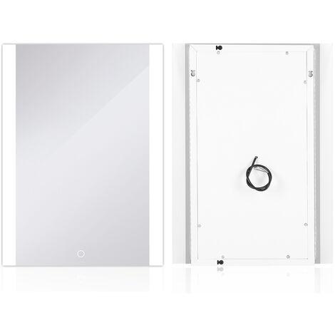 Espejo de baño|Espejo led|Blanco frío (5050LED) - Impermeable antiniebla, 60 * 80 cm