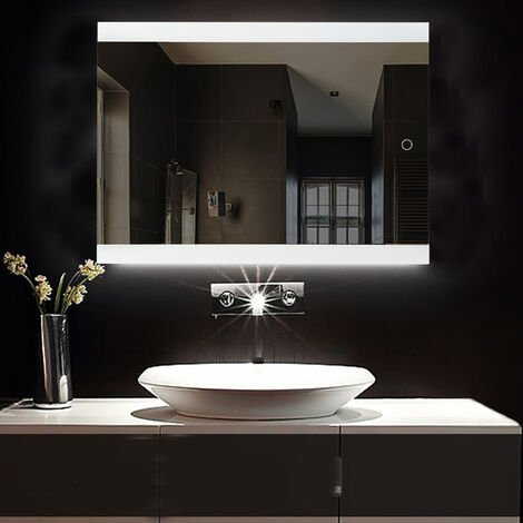 Espejo de baño | Espejo led | Blanco frío (5050LED) - Impermeable antiniebla, 70 * 50 cm
