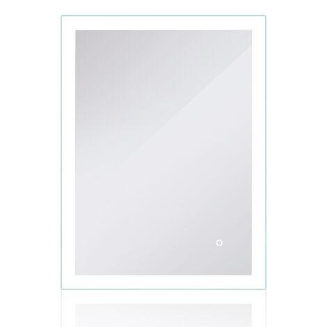 Espejo de baño LED con iluminación por superficies luminosas mate Tactile 80x60cm