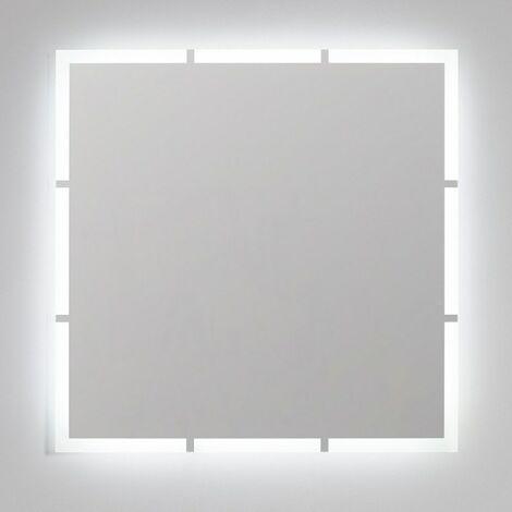 Espejo de baño luz led retroiluminado 80x80