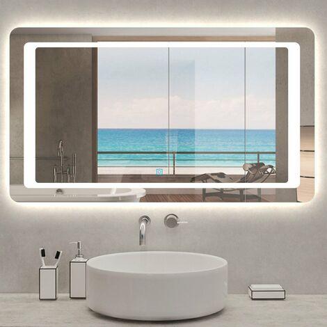Espejo de Baño para Tocador y Espejo Espejo de Baño con Iluminación LED