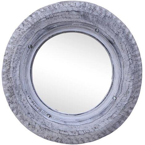Espejo de caucho de neumatico reciclado blanco 50 cm