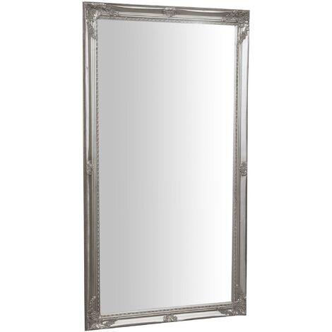 Espejo de colgar vertical/horizontal 72x3x132 cm con efecto plata envejecido